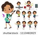 a set of women playing rock 'n' ... | Shutterstock .eps vector #1113482825