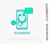 telemedicine thin line icon ...   Shutterstock .eps vector #1113485675