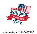vintage united states of... | Shutterstock .eps vector #1113487106