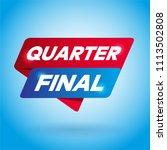 quarter final arrow tag sign. | Shutterstock .eps vector #1113502808