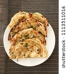 indian naan bread made with... | Shutterstock . vector #1113511016