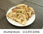 indian naan bread made with... | Shutterstock . vector #1113511046