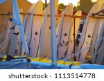 windsurfing boards storage on a ... | Shutterstock . vector #1113514778