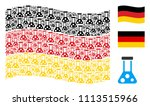 waving germany official flag.... | Shutterstock .eps vector #1113515966