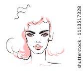 fashion illustration. vector... | Shutterstock .eps vector #1113517328