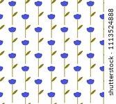 vector seamless flower pattern | Shutterstock .eps vector #1113524888