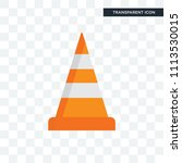 cone vector icon isolated on... | Shutterstock .eps vector #1113530015