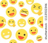 emoticon seamless pattern... | Shutterstock .eps vector #1113532346