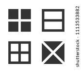 square logo templates. memphis... | Shutterstock .eps vector #1113533882