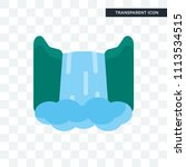 waterfall vector icon isolated... | Shutterstock .eps vector #1113534515