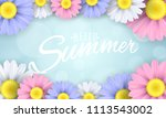 hello summer. seasonal banner.... | Shutterstock .eps vector #1113543002