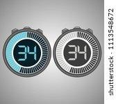 electronic digital stopwatch.... | Shutterstock .eps vector #1113548672