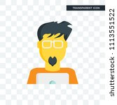 geek vector icon isolated on... | Shutterstock .eps vector #1113551522