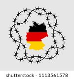 germany is isolated by barbed... | Shutterstock .eps vector #1113561578