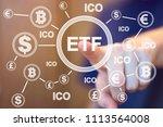 financier presses etf exchange... | Shutterstock . vector #1113564008