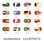 first games in the groups  kick ... | Shutterstock .eps vector #1113574172
