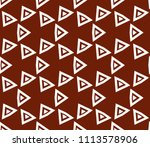seamless pattern with symmetric ... | Shutterstock .eps vector #1113578906