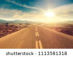 summer road background and free ... | Shutterstock . vector #1113581318