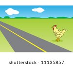 Vector Of Chicken Deciding...