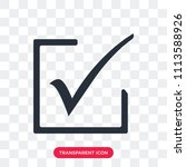 accept vector icon isolated on...   Shutterstock .eps vector #1113588926