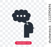discussion vector icon isolated ... | Shutterstock .eps vector #1113590696