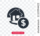 mortgage vector icon isolated... | Shutterstock .eps vector #1113594422