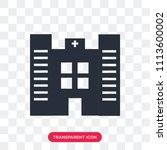 hospital vector icon isolated... | Shutterstock .eps vector #1113600002