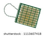 top view of a suet basket with... | Shutterstock . vector #1113607418
