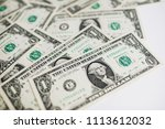 one dollar bills  one dollar... | Shutterstock . vector #1113612032