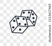 dice vector icon isolated on... | Shutterstock .eps vector #1113617465