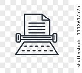 typewriter vector icon isolated ... | Shutterstock .eps vector #1113617525