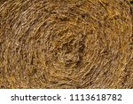a straw bale in close up | Shutterstock . vector #1113618782