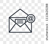 email vector icon isolated on... | Shutterstock .eps vector #1113620288