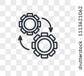 settings vector icon isolated... | Shutterstock .eps vector #1113621062