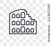 colosseum vector icon isolated... | Shutterstock .eps vector #1113621182