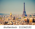 view on eiffel tower  paris ... | Shutterstock . vector #111362132