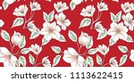 Stock vector seamless floral pattern in vector 1113622415