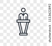 politician vector icon isolated ... | Shutterstock .eps vector #1113622892