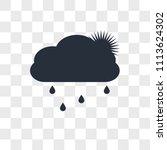 cloudy vector icon isolated on...   Shutterstock .eps vector #1113624302