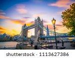london uk 3.11 2017 tower... | Shutterstock . vector #1113627386