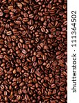 brown coffee beans   close up... | Shutterstock . vector #111364502
