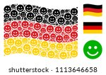 waving germany official flag.... | Shutterstock .eps vector #1113646658