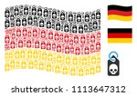waving german state flag.... | Shutterstock .eps vector #1113647312
