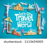 travel and tourism vector... | Shutterstock .eps vector #1113654005