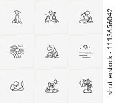 landscape line icon set with...   Shutterstock .eps vector #1113656042