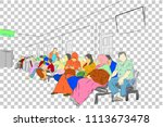vector simple sketch  people at ... | Shutterstock .eps vector #1113673478