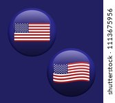 american usa waving flag set... | Shutterstock .eps vector #1113675956