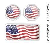 set american flag inside glossy ...   Shutterstock .eps vector #1113675962
