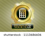 golden emblem or badge with... | Shutterstock .eps vector #1113686606