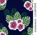 vector illustration of tropical ... | Shutterstock .eps vector #1113693395